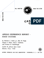 Apollo Experience Report Food Systems