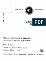 Apollo Experience Report Ground-Support Equipment