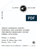 Apollo Experience Report Guidance and Control Systems CSM Service Propulsion System Gimbal Actuators