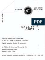 Apollo Experience Report Guidance and Control Systems Digital Autopilot Design Development