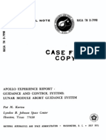 Apollo Experience Report Guidance and Control Systems Lunar Module Abort Guidance System