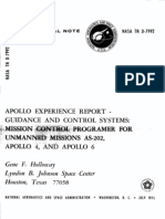 Apollo Experience Report Guidance and Control Systems Mission Control Programer for Unmanned Apollo Missions as-202, Apollo 4, And Apollo 6