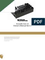Acoustic box 2 Manual