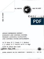 Apollo Experience Report Guidance and Control Systems Primary Guidance, Navigation, And Control System Development