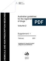 Australian Guidelines for Drug Registration