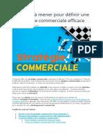 6 actions à mener pour définir une stratégie commerciale efficace