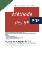 Comment utiliser la méthode des 5P