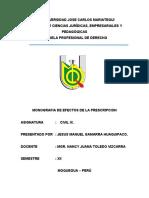 monografia de efectos de la prescripcion cas. N 634-2013