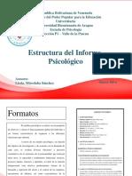 estructura del informe psicológico