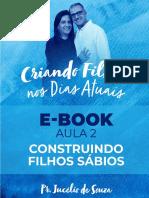 E-BOOK - AULA 2 -CONSTRUINDO FILHOS SÁBIOS - CRIANDO FILHOS NOS DIAS ATUAIS