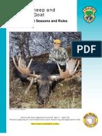 2010 Idaho Moose, Bighorn Sheep and Mountain Goat Brochure