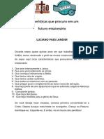Características que procuro em um futuro missionário.pdf