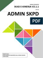 Manual eKinerja - Admin SKPD