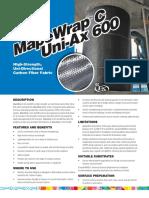 ①.使用予定補強材料 C UNI-AX600