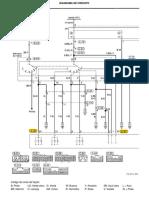 Pajero TR4 - Controle da transmissão automática - Diagrama elétrico