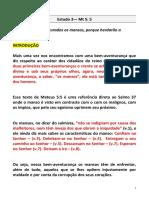 """03 - """"AS BEM-AVENTURANÇAS""""_Os Mansos - IPW"""