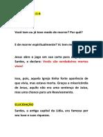 APOCALIPSE 3.1-6 - SERMÃO IPW - 21.06