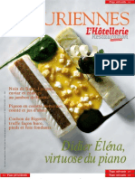 Les Épicuriennes (hors série 2006-02) • Didier Éléna, virtuose du piano (cooking & tableware, recipes)