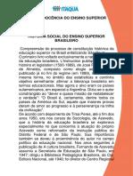 HISTÓRIA SOCIAL DO ENSINO SUPERIOR BRASILEIRO