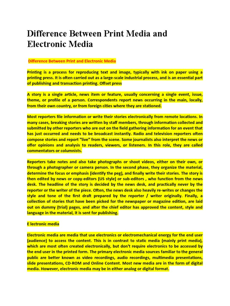 electronic media essay essays about love difference between print media and electronic media news media 1509776656 difference between print media and electronic media electronic media essay