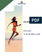 NUTRIOSE Soluble Fibre Technical bulletin - ENGLISH version