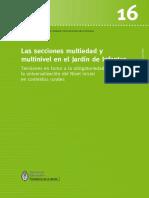 La Sección Multiedad y Multinivel en El Jardín de Infantes.(rural)