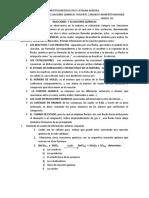 TALLER DE REACCIONES QUIMICA iiii