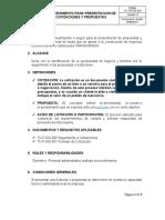 TU-PR-GG-003 Procedimiento presentacion de cotizaciones