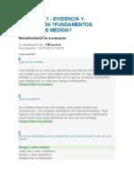 ACTIVIDAD 1 - EVIDENCIA 1 - EVALUACIÓN - FUNDAMENTOS BÁSICOS DE MEDIDA