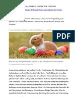 Стаття для реферування_ Warum feiern wir Ostern
