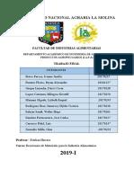 Trabajo Final de Resistencia de Materiales en la Industria Alimentaria 2019
