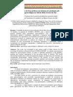 Nível de adoção de boas práticas em sistemas de produção sob transição agroecológica em MS