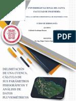 Delimitación de Una Cuenca, Cálculo de Sus Parámetros Fisiográficos y Análisis de Datos Pluviométricos