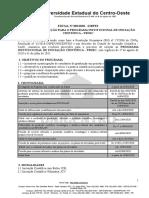 EDITAL INICIAÇÃO CIENTIFICA 2020
