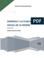 EMPRESA Y LA FUNCION SOCIAL DE LA MISMA