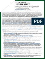 Creative Portland COVID-19 Summary
