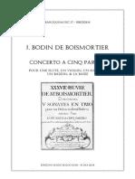 Boismortier Concerto à 5, Op. 37