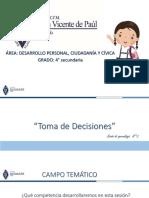 II SESION  TOMA DE DECISIONES