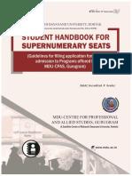 MDU-CPAS Supernumerary Seats Student Handbook 2020