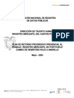 PLAN DE RETORNO PROGRESIVO PRESENCIAL AL TRABAJO  REGISTRO MERCANTIL DE PORTOVIEJO.docx