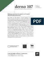Cuadernos del Centro de Estudios en Diseño y Comunicación Nº107