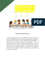 CONTEÚDO EDUCAÇÃO INCLUSIVA