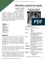 Síndrome de dificultad respiratoria aguda - Wikipedia, la enciclopedia libre