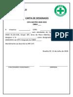 CARTA DE DESIGNADO - MODELO