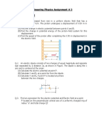 Assignment#3 ,Electric Potential, Capacitors