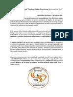Comunicado de Prensa TUA