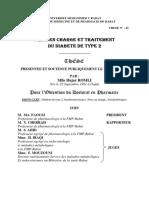 PRISE EN CHARGE ET TRAITEMENT DU DIABETE DE TYPE 2
