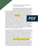 RECOGER LOS CONCEPTOS EN LA VIDA. UNA METODOLOGIA DE INVESTIGACION SOLIDARIA