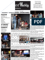 WHM Weekly Newsletter - 26 December 2010