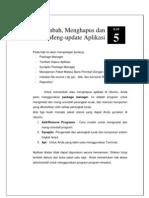 5. Mengelola Aplikasi